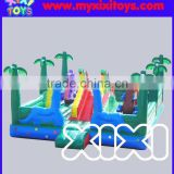TOP quality jungle fun inflatable playground for kids, inflatable bouncy trampoline