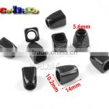 "7/32""(5.6mm) Hole Plastic Black Cord Bell Ends Stopper For Sportwear Backpack Strap Garment Accessories #FLS159-B"