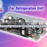 Small Cold room with hermetic compressor condenisng unit air cooled unit for cold plate freezer cold storage condenser