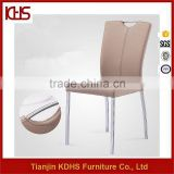 quality assurance leather covered metal base top grade chrome dining chair