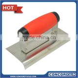 Plaster Trowel Plastering Tool Edger with Soft Grip Zinc Plated Blade construction Masonry Tool Hand Tool