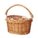 Round Wicker Handle Bicyle Basket Willow Bike Basket With Handle