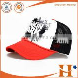 Good quality reasonable price 5 panels foam and mesh kids trucker mesh cap hat baseball cap with logo printed for woman