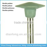 "A207F 3/32"" HP Shank Wheel Shaped Light Green Flex Rubber Polishers Used Dental Lab Equipment"