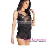 transparent nighty photos Black Eyelash Lace Romper sexy micro teddy lingerie