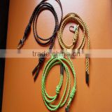 hot sale woven leather strap neck braided leather lanyards