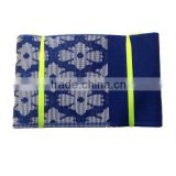 Fashion design royal blue seamless tube bandana aso oke head tie for african party and wedding