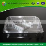 Disposable PET plastic type food use plastic trays with compartments,ice cube tray
