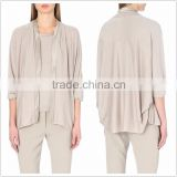 Women batwing sleeve knitted jersey casual cardigan plus size woman cardigans SYA15325