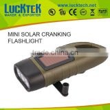 2015 top sell mini solar hand crank flashlight