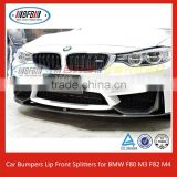 Real Carbon Fiber Car Bumpers Lip Front Splitters for BMW F80 M3 F82 M4 Bumper 2015 3 4 Series