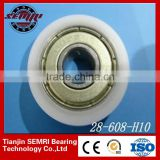 Soft Closing Cabinet Sliding Door Roller Suitcase Caster Wheel with G608 Nylon Roller Bearing
