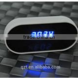 CMOS Sensor digital led wall desk clock wireless 1080P network alarm clock wifi radio hidden camera Z6