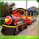 Park multifunctional sightseeing car and amusement rides electric trackless train rides hot sale