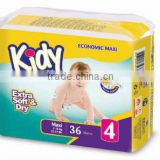 Premium quality elastic disposable baby diapers nappy for baby maxi
