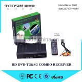 Best wholesale price DVB-S/S2+T/T2 satellite tv receiver combo full hd digital dvb t2 & s2 combo set top box