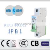 1P 240/415V 6ka/10ka breaking capacity miniature air circuit breaker Good price made in china