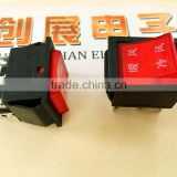 Start switch buggy /disinfection cabinet push switch,4p IP54 waterproof rocker switch with lock