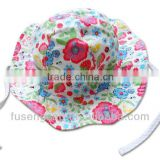 2013 lovely kids sun hat with flowers and bows girl childern sun hat