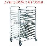 Stainless Steel Tray Bakery Cake Trolley