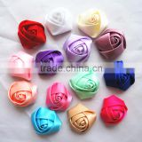 2016 Wholesale handmade satin ribbon decoration wedding flower,rose flower,artificial flowers
