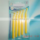 """L"" shaped dental interdental brush, interproximal toothbrush"