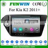 "HD 1G RAM 9"" Pure Android 4.4 quad core navigation system for Kia K2 built in wifi 16G ROM"