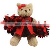 logo giveaway toy plush stuffed soft bear Atlanta Falcons Talking Cheerleader Plush Bear t-shirt bandana custom imprinted gift