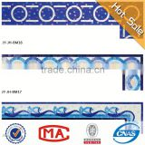 beautiful blue border tiles handmade high quality mosaic border tiles stickers bathroom wall tiles