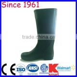 men clear pvc rain boots Brown Color PVC Boots for Food Industry