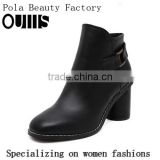 2016 high heel ladies PU ankle boots black women winter boots PJ4393