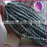 6-4mm Natural silver grey Freshwater pearls AAA grade baroque Pearls