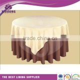 "2015 Chinese Imports Wholesale Wedding Table Taffeta Tablecloth 120"" Round"