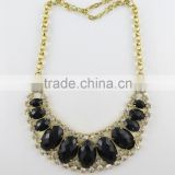 Girls unique black diamond beads strings necklace