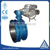 water,gas,etc,oil Media and Butterfly Structure electric actuator flange butterfly valve
