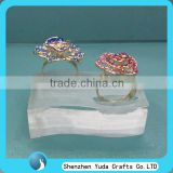 Transparent clear solid acrylic jewelry display ring stand plexiglass jewellry display stand