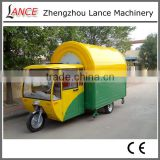 New fashion mobile food car for sale, scooter food cart commercial hot dog cart with three wheels