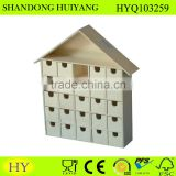 cheap natural wooden advent calendar wholesale