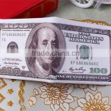 Wholesale banknotes shaped dollar and euro funny style wallet