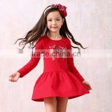 S60720B Girls dress princess embroidered high quality wedding party gift fashion flower kids children's clothing