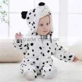 2017 winter new style animal modelling flannel baby rompers children's clothing suits
