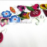 DIY sublimation heat transfer French fiber earrings