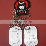 Stamping custom dog tag with epoxy