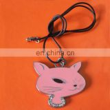 personalized cute fox shaped animal mobile phone strap with crystal