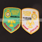 custom design irregular shape embroidered patches