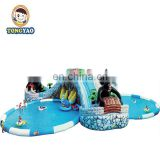 Large floating inflatable park, outdpoor swimming  pool inflatable equipment