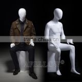 sitting male abstract mannequin