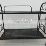 China factory heavy duty metal Strong dormitory military double steel army bunk bed with slide