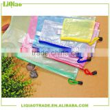A3 A4 A5 A6 Colorful grid clear file bag with zipper