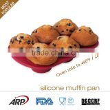 Silicone, Flexible, Light,Heat resistance,Non-stick,Odorless 6 Cups Muffin pan, FDA, LFGB,DGCCRF